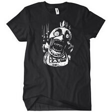 Chica FNAF Womens T-Shirt Five Nights at Freddy's Horror Video Game 3 Black Tee