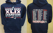 NEW ENGLAND PATRIOTS DOUBLE-SIDED SUPER BOWL XLIX CHAMPIONS HOODIE SWEATSHIRT