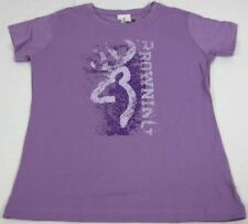 Womens NWT Browning Splatter Buckmark Classic Fit Tee T-Shirt Lilac Any Size