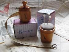 Sajou French Vintage Style Wooden Tape Measure/ Pin Cushion- Natural
