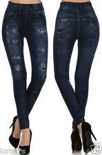 High Waist Jeans Like seamless Jeggings skinny tight full length pants Yelete115