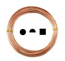 Pure Copper Wire, Round, Half Round, Square, 14 16 18 19 20 21 22 24 26 Gauge