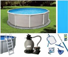 NEW Belize Steel Wall Above Ground Pool Packages with Liner Ladder Pump and More
