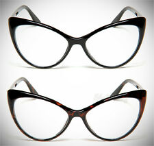 Clear Lens Glasses Nikita Cat Eye Vintage Retro Womens Fashion