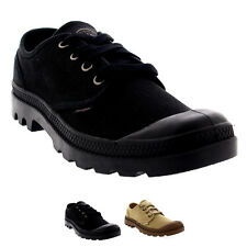 Mens Palladium Pampa Oxford Lace Up Low Cut Casual Canvas Shoes Trainers UK 7-12