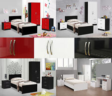 Marina | High Gloss | Bedroom Furniture Units & Sets | Double Combi Wardrobe