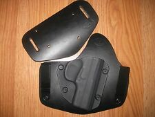 Steyr IWB/OWB combo Kydex/Leather Hybrid Holster with adjustable retention