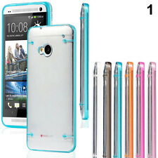 Pro Ultra Slim Transparent Clear Soft Gel Skin Hard Case Cover For HTC One M7