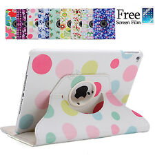 360 Rotating Flower Smart Cover Case for iPad Air 2 1 iPad mini 3 iPad 4 3 2
