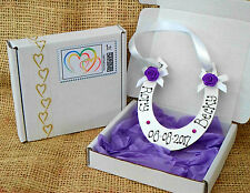 Personalised Horse Shoe - Wedding gift for Bride & Groom - Marriage