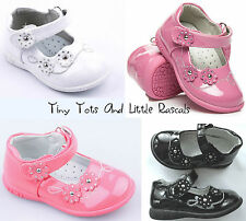 Toddler Infant Girls Patent Shoes Ballerina Pumps Leather Insole Size UK 3.5 - 8