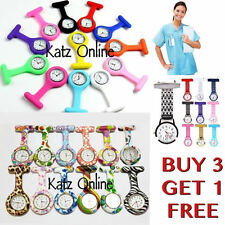 New Fashion Silicone Nurse Watch Brooch Tunic Fob Watch New With Free Battery