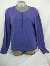 MARKS AND SPENCER LADIES CARDIGAN PURPLE SOFT TOUCH