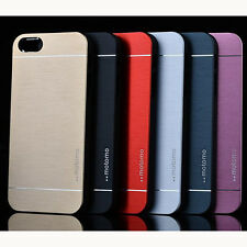 Metal Aluminum Brushed PC Hard Back Cover Case Skin For iPhone 4 5 5S 6 6 Plus