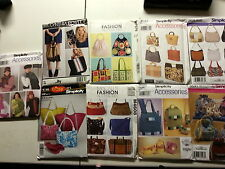 Simplicity & McCall's Patterns Bags Totes Scarfs Slippers Hats Gloves - Choice