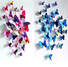 Design Decal Wall Stickers Home Decor Room Decorations 3D Butterfly