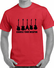 Choose your weapon guitar tshirt t-shirt flying v electric acoustic rock cool