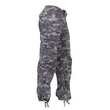 Womens Army Military Subdued Urban City Camo Paratrooper Fatigues Cargo Pants