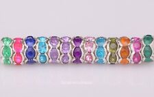 Crystal Rhinestone Beads 100pcs Rondelle Beads Spacer Beads Findings,8MM