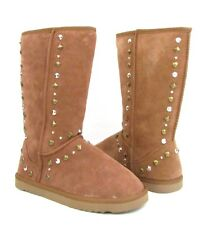 Chestnut Bolted Suede Studded Multi Style & Co. NEW Comfy Winter Boot WMNS NEW