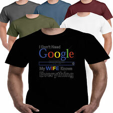 Google My Wife Knows Everything Lustiger Slogan Humor Anzüglicher Ungezogener