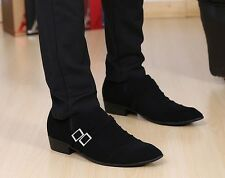 Stylish  Men's Oxford  buckle loafer pointy  comfort Dress formal casual Shoes