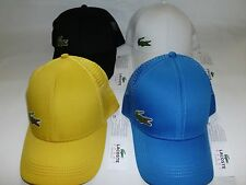 NEW 2015 MENS LACOSTE CROC LOGO TRUCKER CAP HAT, PICK A COLOR, ANDY RODDICK