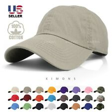 Cotton Plain Baseball Cap Curved Bill Washed Mid profile Blank Hats