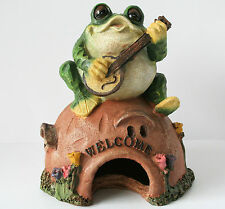 Frog Musicians Toad house  figurines 3 styles - patio - lawn - yard - NEW !