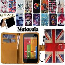 Folio Leather Stand Card Wallet Magnetic Cover Case For Motorola DROID Phones