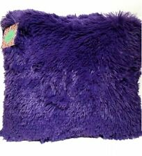 Kelly 18-Inch Shaggy Throw Faux Fur Decorative Pillow 12 Colors New Cushion