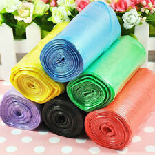 1-Roll(50pcs) Rubbish Garbage Kitchen Toilet Clean-up Waste Trash Bags 6 Colors
