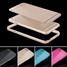 Luxury Aluminum Metal Bumper & Acrylic Back Cover Case For iPhone 6 6 Plus 5s 5C