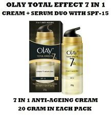 OLAY TOTAL EFFECTS 7 IN ONE ANTI AGEING CREAM + SERUM DUO WITH SPF-15 (20 GRAM)