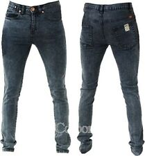 Zico Designer Super Skinny Stretch Jeans Acid Black All Sizes Available