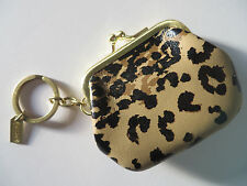 COACH Coin Purse Madison handbags key ring Keychain fob Leather charm 66333 NEW