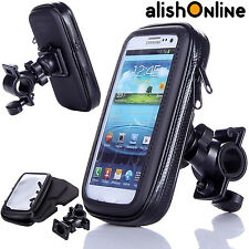 Waterproof Bicycle Bike Mount Holder Case Cover for Mobile Phones Rotating Black