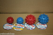 CLASSIC TOUGH RUBBER SPIKE BALL/BELL DOG CHEW TOY HARD WEARING SMALL/LARGE NEW!