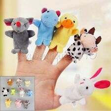10Pcs Finger Puppets Cloth Doll Baby Educational Hand Cartoon Animal Kids Toy