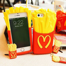 FRIES COVER IPHONE 4 4S 5 5S 6 Plus Samsung GALAXY MOSCHINO case patatine fritte