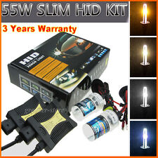 55W HID Xenon Headlight Conversion KIT H1 H3 H7 H8 9005/6 Hi/Lo H4 9003/4 9007