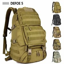 Outdoor Military Tactical Gear Camp Hiking Big Backpack Bag Rucksack 45L MOLLE
