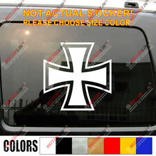 Iron Cross Luftwaffe WWII German Germany Army Car Decal Bumper Sticker