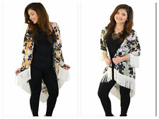 HART COLLECTION Floral fringe Kimono, Fringe Robe