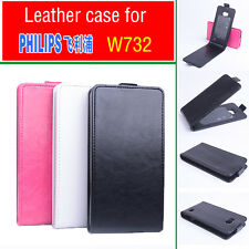 3 Colors New Fashion  Leather Flip Case Cover for PHILIPS W732 Smartphone