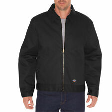 DICKIES TJ15 LINED EISENHOWER MENS WORK JACKET/COAT BLACK LAUNDRY FRIENDLY