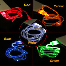 Micro Light Up LED USB Data Sync Charger Cable For Android Samsung iPhone 5 5S 6