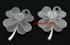 10/40/240pcs Tibet Silver leaves Jewelry Finding DIY Charms Pendant 23x17.5mm