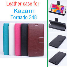 Fashion Leather Flip Case Stand case Cover for Kazam Tornado 348 Smartphone