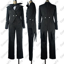 The Nightmare Before Christmas cosplay Jack Skellington stripe costume uniform